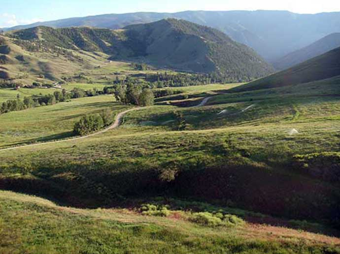 Idaho Acreage on gently sloping land