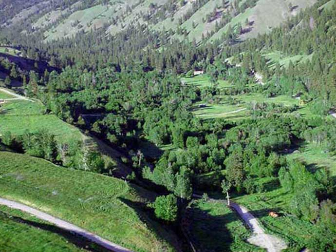 Aspen Ranch Located on left side of photograph