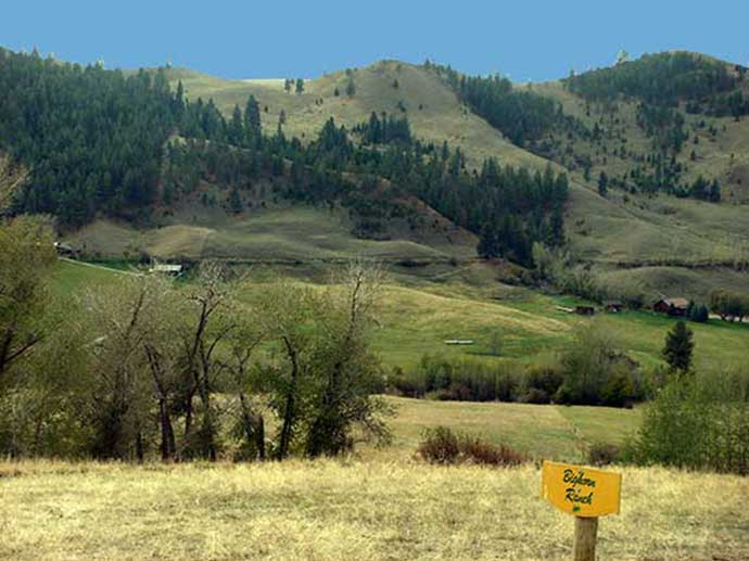 Birhorn Ranch views overlooking Salmon River canyon
